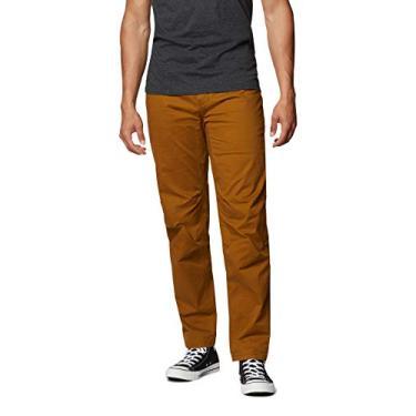 Mountain Hardwear Calça masculina elástica Cederberg | Calça confortável para escalada, rochas, e uso casual – Marrom dourado – 81L x 81C