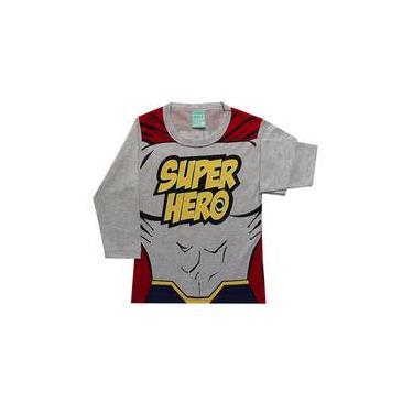Pijama infantil menino manga longa Super-Herói kyly
