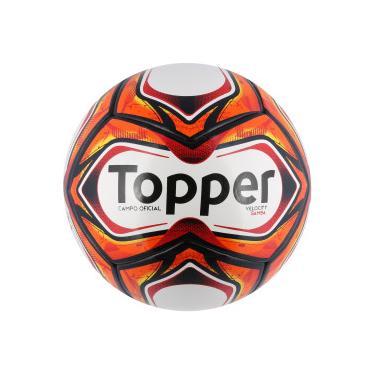 Bola de Futebol de Campo Topper Samba Velocity TD1 2018 - BRANCO VERMELHO  Topper 51ccbd18c2c2f
