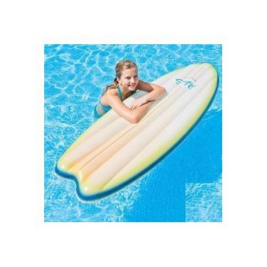 Boia Colchão Prancha de Surf Bronzeador Inflável Branco Intex