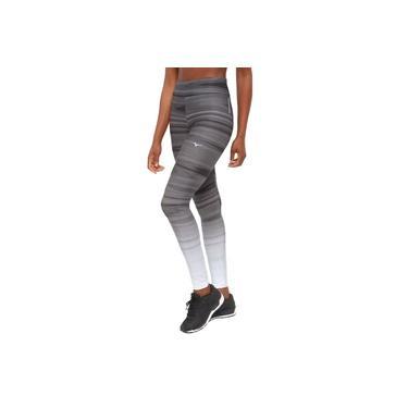 Calça Legging Mizuno Creation 20 II Feminina - Branco e Preto