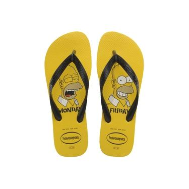 Chinelo Havaianas Masculino Simpsons 35/6 Amarelo Ouro