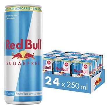 Energético Red Bull Energy Drink Sugar Free Pack com 24 Latas de 250ml