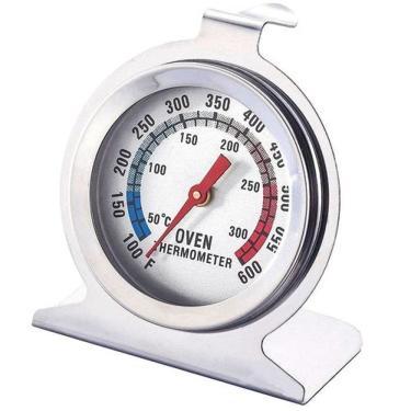 Imagem de Termômetro para Forno e Churrasqueira Profissional Aço Inox