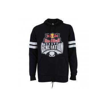 7945031ceb196 Blusão de Moletom com Capuz Red Bull Logo Sk8 - Masculino - PRETO BRANCO Red