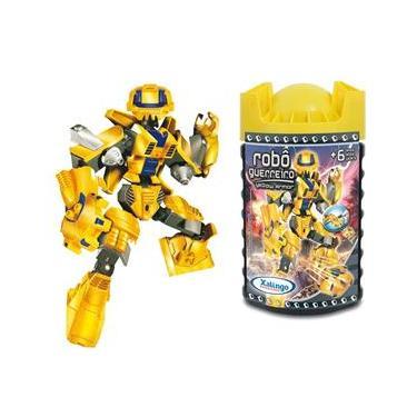 Imagem de Blocos de Encaixe Robô Guerreiro Yellow Armor 57 Peças - Xalingo