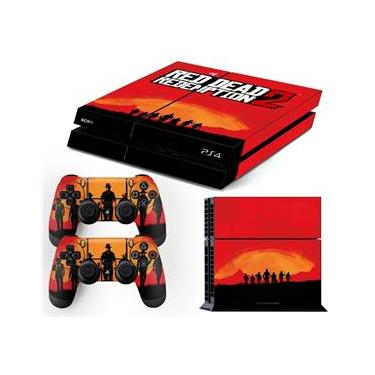 Skin PS4 Fat Red Dead Redemption 2