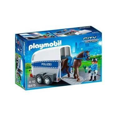Playmobil - City Action - Trailer da Polícia com Cavalo - 6875 - Sunny