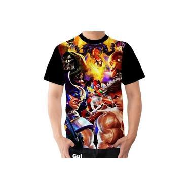 Camiseta Camisa Marvel Vs Capcom Herois Street Fighter 02