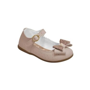 Sapatilha Boneca Infantil Menina Laço Glitter Marfim
