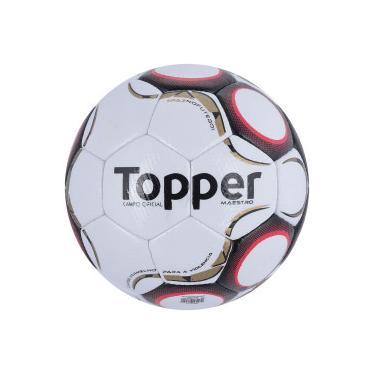 Bola de Futebol de Campo Topper Maestro TD2 - BRANCO VERMELHO Topper f35c3a557827f