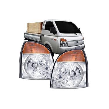 Farol Hyundai HR 2004 2005 2006 2007 2008 2009 2010 2011 2012 2013 Cromado