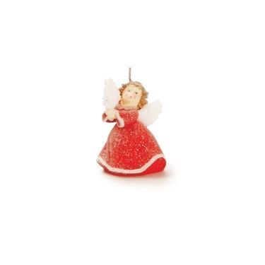 Vela de Anjo Decoração Natal 9cm Vermelho