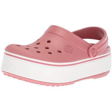 Sandália, Crocs, Crocband Platform Clog, Blossom/White, 38, Adulto Unissex