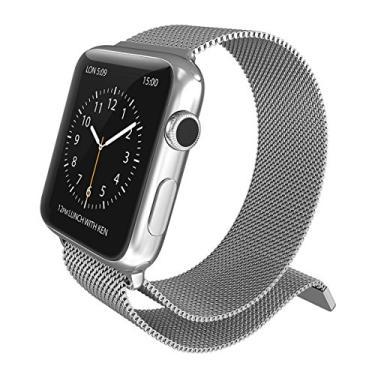 Pulseira para Apple Watch Milanese Original 38mm Aço Inoxdável Fecho Magnético X-Doria Mesh Band Serie 1 2 e 3 [Relógio Apple] [Prata] [38] [Pulseira Milanese]