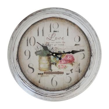 fe7a336fa8a Relógio de Parede Rústico Garden 37cm unissex