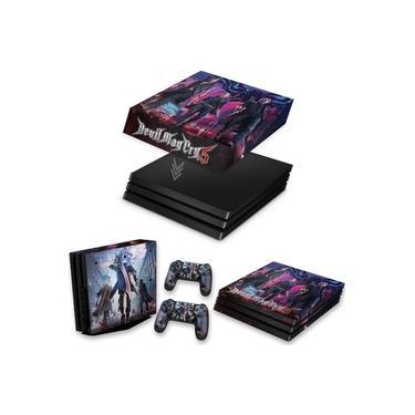 Capa Anti Poeira e Skin para PS4 Pro - Devil May Cry 5