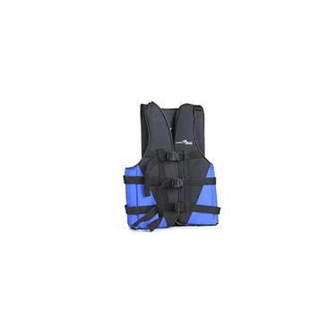 Colete Coast Preto/ Lateral Azul p/ Até 70kg - Nautika