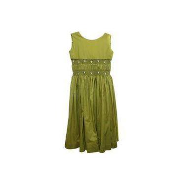 Vestido Fustao Verde