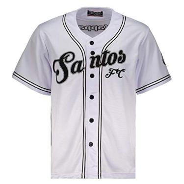 c3aee683b4d14 Camisa Kappa Baseball Santos Branca Nº 09