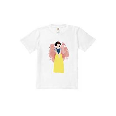 Camiseta Infantil Princesa Branca De Gelo