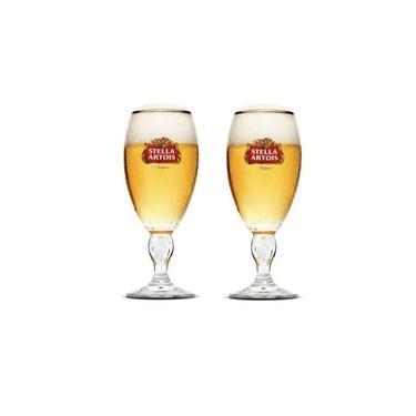 2 Taça Copo Cálice Stella Artois Litografada Cerveja 250ml