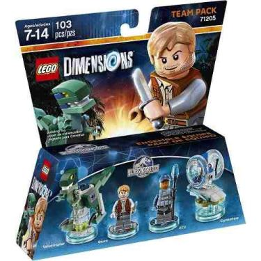 Lego Dimensions Jurassic World Team Pack 71205-original Novo