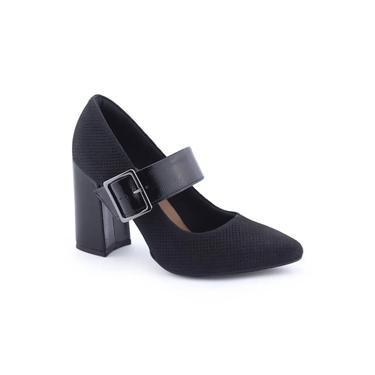 Sapato Feminino G2371 Salto Bloco Robusto Original NF Dakota