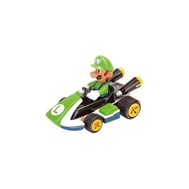 Carrinho de Fricção Mario Kart PS e Nintendo Luigi 7cm 1:43 Carrera