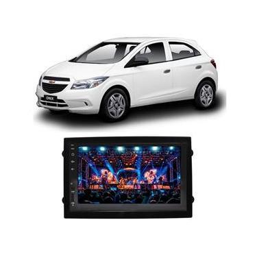 Central Multimídia Chevrolet Onix 2013 a 2019 7 Polegadas Espelhamento iOS Android Bluetooth USB SD Fm