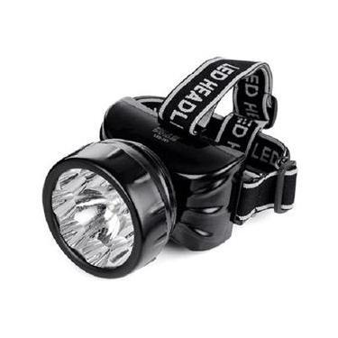 Lanterna De Cabeça 9 Leds Recarregável Dp 781 / Caça Pesca