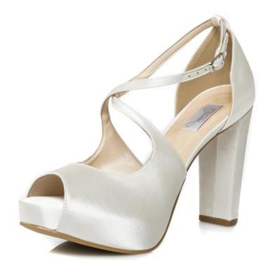 Sandália Noiva Salto Alto Confortável - 86096 Off White 073201140208 feminino