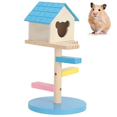 Imagem de LAJS Brinquedo de exercício de hamster, esconderijo anão pequena casa de hamster para brincar para esconde-esconde (# 0, 1)