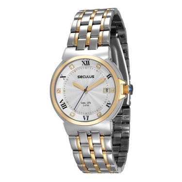 6e590143a66 Relógio Seculus Feminino Prata Analógico 23513LPSVBA4