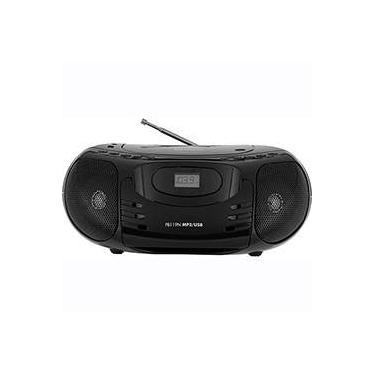 Som Portátil Philco PB119N CD Player Rádio FM Entradas Aux/USB 5W Preto