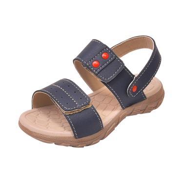 Sandália Infantil Raniel Calçados Papete Velcro Marinho  menino