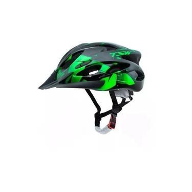 Capacete Tsw Raptor II Regulável Com Led Bike Mtb