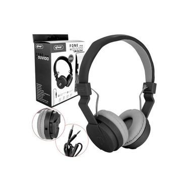 Headfone Gamer Cabo Removível 1,2m E Microfone KP-428 Knup Preto