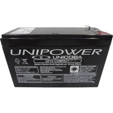 Bateria 12V Selada P/Alarme Up12 Unipower