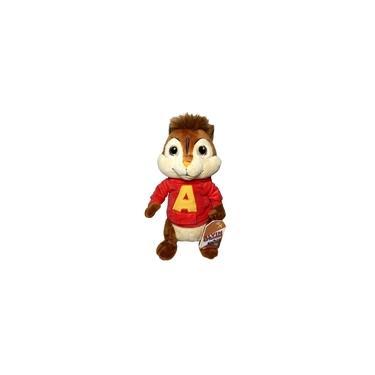 Imagem de Brinquedo Boneco De Pelúcia Infantil Esquilo Alvin Tradicional - Personagem Do Filme Desenho Alvin E Os Esquilos - 30 Centímetros De Altura - Bbr Toys