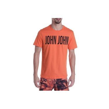 Camiseta John John Masculina RG Wavy John Laranja