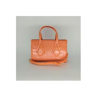Bolsa Turquesa modelo Mini Bag Transversal Laranja