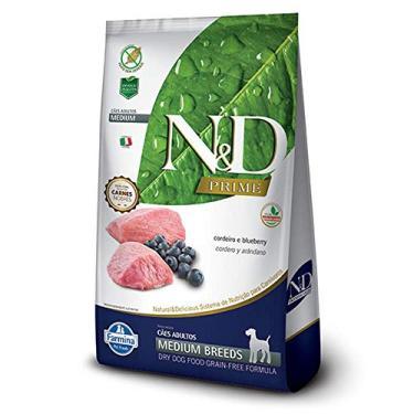 Ração N&D PrimeCordeiro e Blueberry Cães Adultos Raças Médias 10.1kg