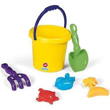 Imagem de Kit Brinquedos de Praia Super Coloridos com 6 Peças 3009 - Calesita