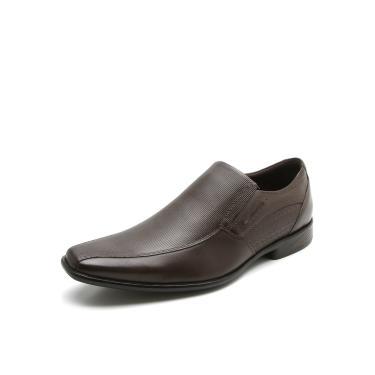d91a5ac80c1 Sapato Social Couro Ferracini Recortes Marrom Ferracini 3673-203H masculino