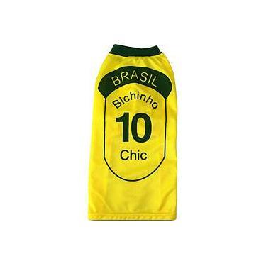 Camiseta do Brasil - Tam. 9 - Bichinho Chic