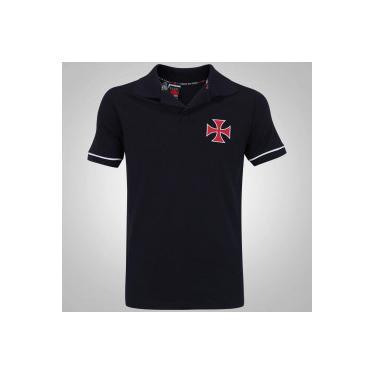 Camisa Polo do Vasco da Gama Volt Braziline - Masculina - PRETO Braziline ad0608a012d8d