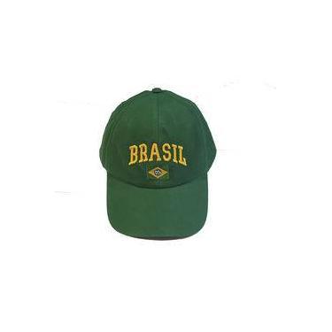 Boné da bandeira do Brasil Verde
