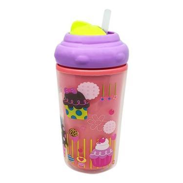 Copo Térmico Com Canudo De Silicone Cool Rosa 24M+ Multikids Baby - BB035 BB035