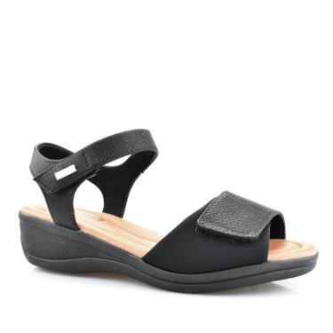 Sandália Casual Feminina Ultra Conforto Comfort Flex 88403 Comfortflex Preto  feminino